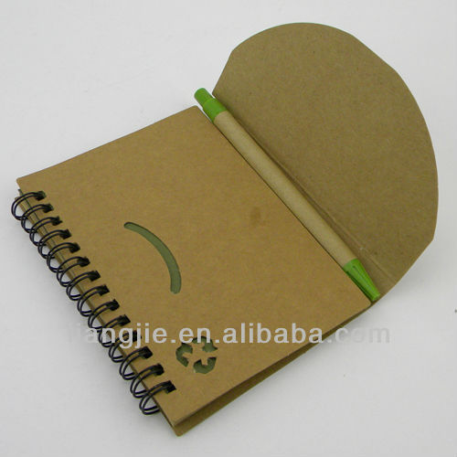 Promotional Eco Notepad with Ball Pen