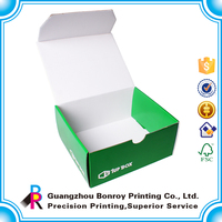 Custom white & brown corrugated box packaging