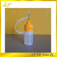 China wholesale plastic material 3ml LDPE soft squeezable e juice bottle with needle hole cap from bottle manufacturer