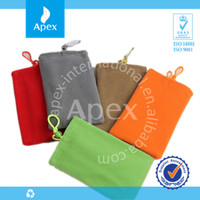 Cotton mobile phone carry bag cell phone protection bag