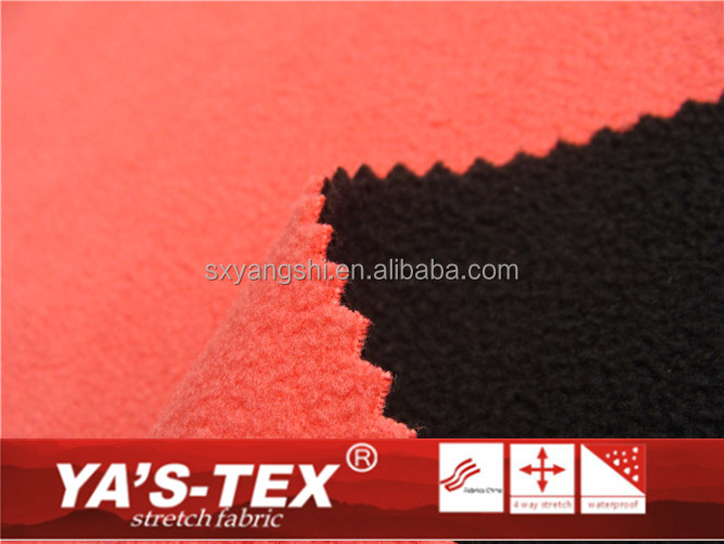 100% polyester bonded two sides polar fleece fabric used for jacket