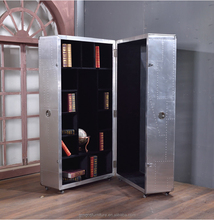 Distressed Industrial Style Aluminium Stand large metal storage cabinets