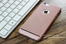 High Quality Thin Soft TPU Grid Heat Dissipation Mobile Phone Cases for Apple iPhone 5 5S 6 6 7plus Protective Cover Shell