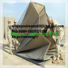 Using security Geotextiles 300g Filled with sand MIlitaey hesco basket MIL1