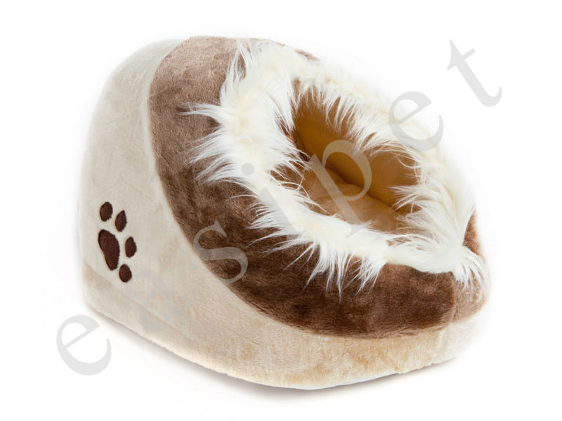 Cat Kitten Cave Pet Bed House Igloo Sleeping Pet Puppy Dog Bed with Pillow