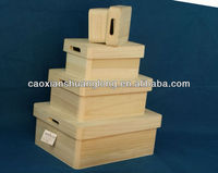 Hot sale customized wooden custom donation boxes