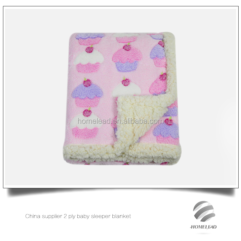 China supplier 2 ply baby sleeper blanket