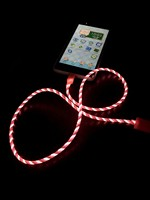 AiLINE EL Multi Led Light 8Pin USB Charging Cable for Mobile Phone