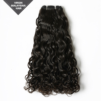 VV Hot Sale 16 Inch Single Drawn Weaving 112g/pc Natural Color Malaysian Hair Virgin Human Hair Extension