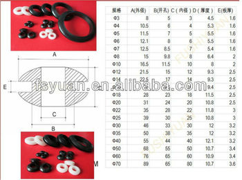 3 4 5 6 7 8 12 14 16 18 20 22 25 30 40 50 60 70mm diameter shock silicone rubber grommets rubber waterproof grommet / obstructer