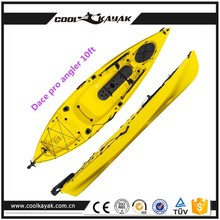 Plastic no inflatable boat and fishing boat with paddle board