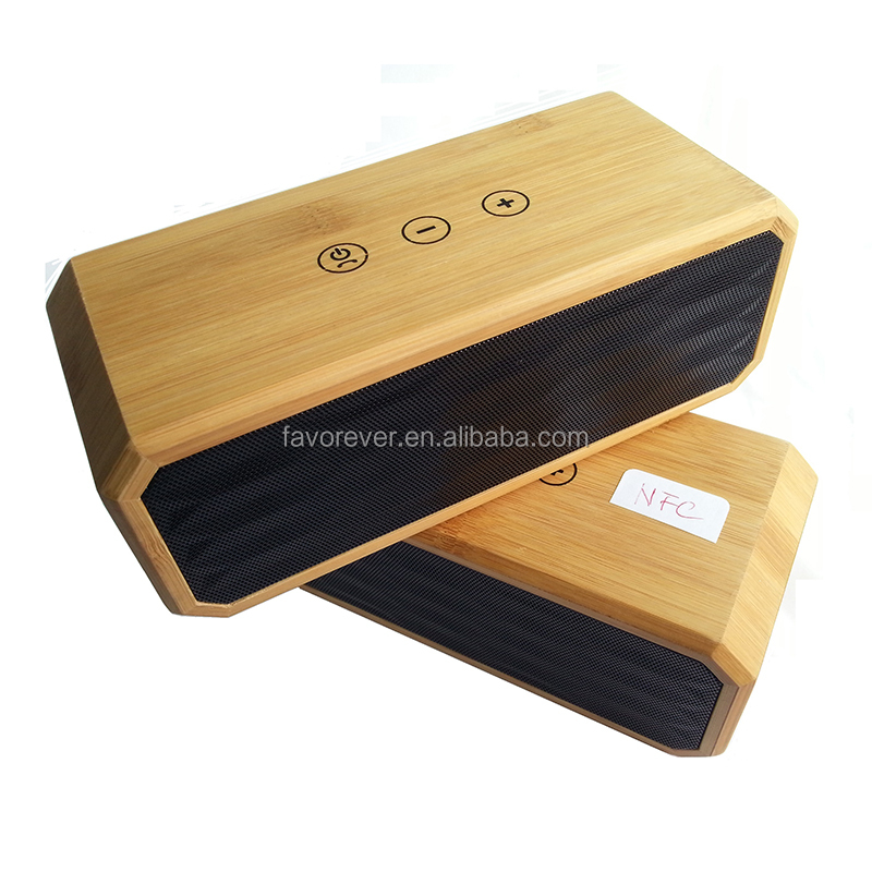 Patent Indoor and Ourdoor use Wood wireless Speaker Cabinets Natural Bamboo stereo Bluetooth speaker CE, FCC Model No: BT616