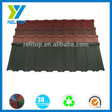Wonderful stone coated natural colorful stone house roofing tile