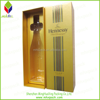 Luxury Paper Packaging Gift wine Bottle Box With Insert Plastic