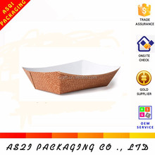 custom lamination cake recycled paper cup holder tray for food packaging