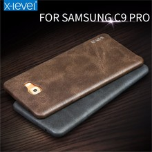 [X-Level] Hotselling Vintage Premium PU Leather Phone Accessories Back Cover Case for Samsung Galaxy C9 Pro, PU Case for C9000