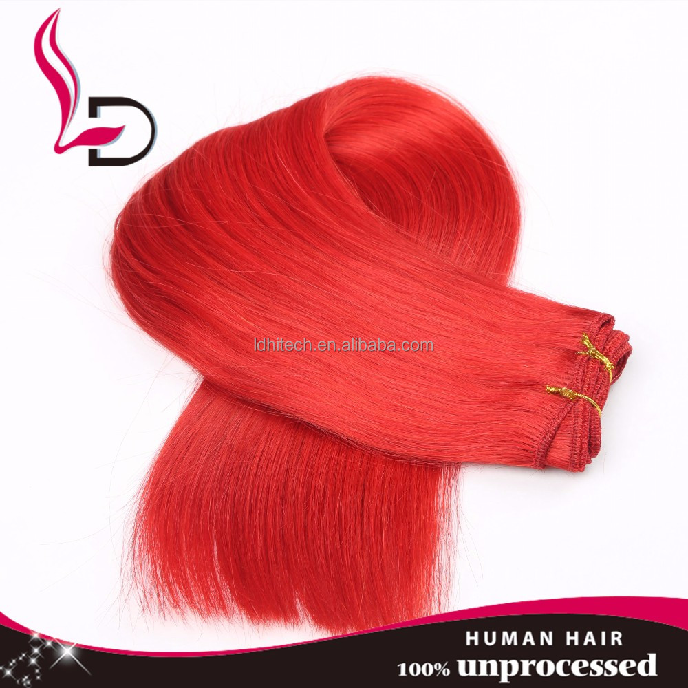 Unprocessed Bright Orange Virgin Brazilian Hair Weavingwholesale