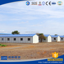Flexible design easy installation and low cost panel prefab house