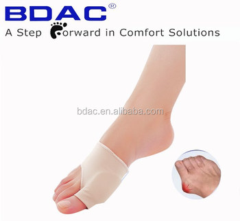 nylon spandex gel lined bunion protector