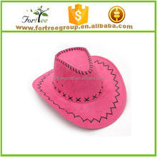 custom pink cowboy hat for women,custom cheap cowboy hats made in china