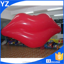 New Hot inflatable helium lip,inflatable helium lip balloon,inflatable flying red lip balloon for sell