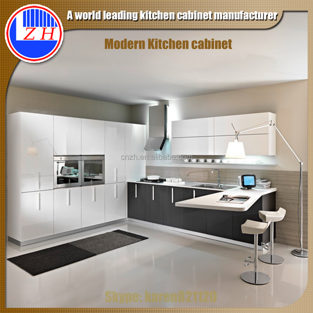 Home use bugs termite proof modular acrylic kitchen for Acrylic kitchen cabinets cost