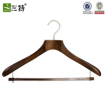 Nncomplicated wood tops hanger with plastic cover