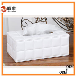 Multi-functional design box family/car/hotel tissue box high quality pu leather tissue box