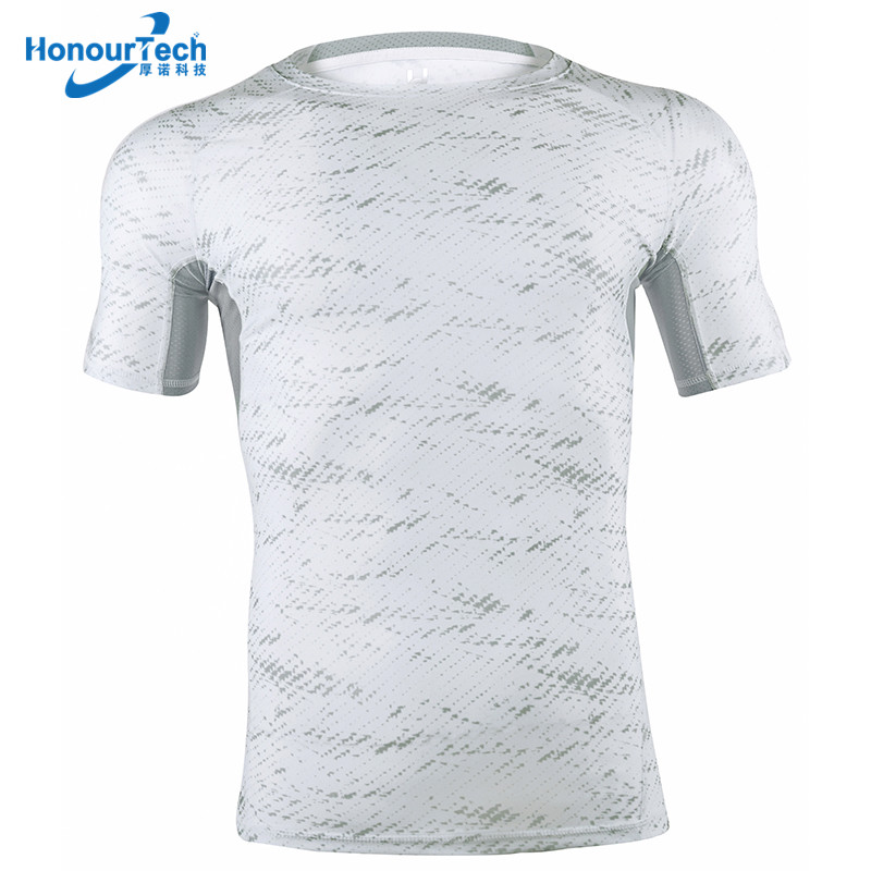 Hot Sale Custom Cool Dry Male Compression Sportswear Plain Short Sleeve Compression T Shirt