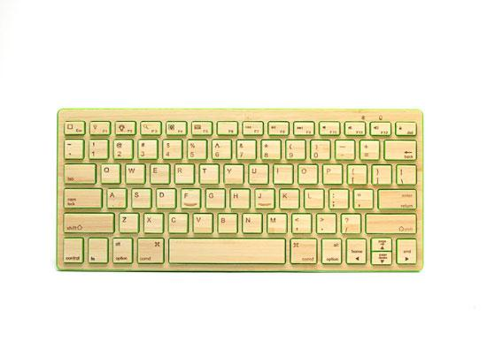 Impecca Bamboo Bluetooth Keyboard, Leaf Green