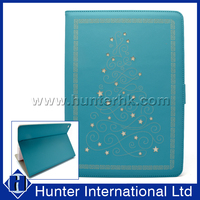Turquoise Color Christmas Tree Tablet Case For iPad 4