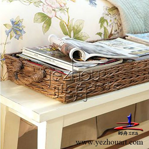 promotion handmade bulrush basket