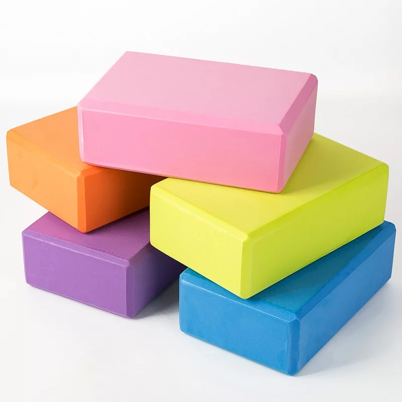 "gym exercise   3""*6""9"",4""*6""9""size EVA foam yoga blocks"