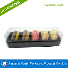 Customized Cheap 5 Pieces Plastic Macaron Packaging Box, Plastic Food Packaging