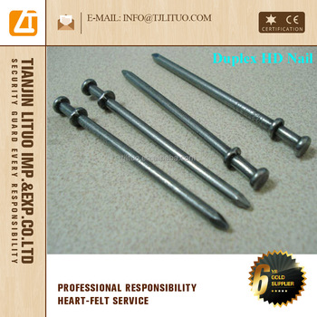 16d duplex nails/double head nails/two head common nails Tianjin manufacturer supply