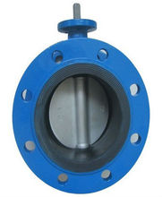 Flange Butterfly Valve with bare stem