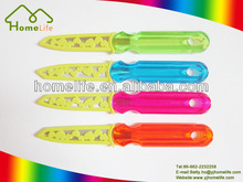 Promotional plastic colorful handle fruit and carving kitchen knife