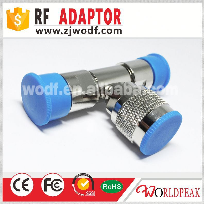 triple connector adapter N male to N type female to N female adaptor