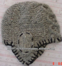 woolen ear hat with cruched work price 190rs $2.23