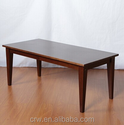 DT-4028 Korea Thick Wood Slab Wooden dining table