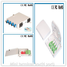 4 Core/Port 86 Type ABS PC Indoor FTTH SC Fiber Optic Face Plate,Fiber Mini Terminal Box