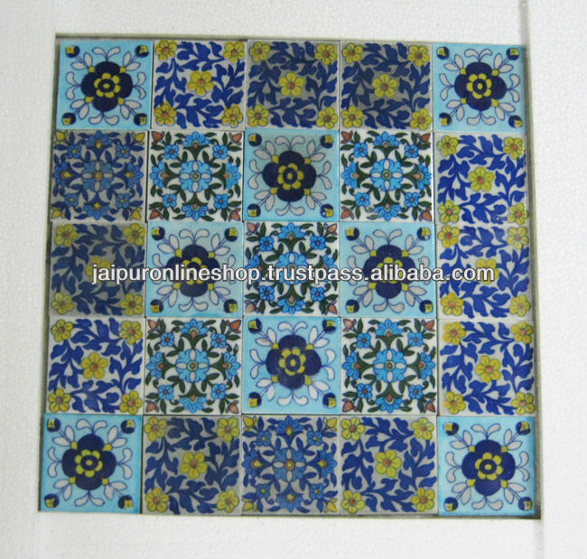 Exporter / Manufacturer / Supplier / Trading Company of Blue Pottery Tiles based in Jaipur | India