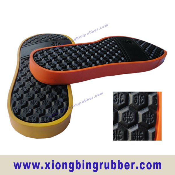 Recycle, colorful men's casual rubber sole