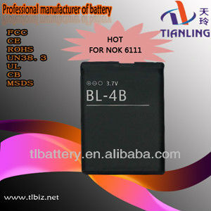 Replacement Bl-4b Battery For Nokia Cell Phone 1606 2505 2630 2660 2760 3606 5000 6111 6125 7070 Prism