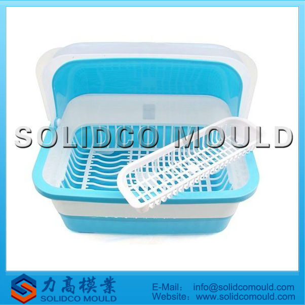 hot sale plastic tableware basket mould with cover