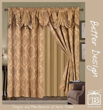 2017 New Design Modern Luxury Valance Curtains For Living Room In Cheap Price