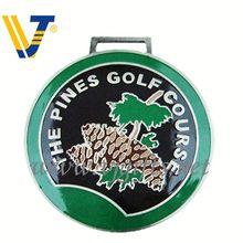 2013 Hot 3d metal golf bag tag with strap