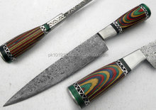 Custom Manufactured Beautiful Damascus Steel Chef Kitchen Knife