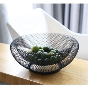 Double Wall Kitchen decorative home metal Large wire mesh bread fruit storage basket