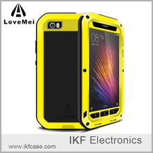 Luxury Premium LOVE MEI Case Shockproof Waterproof Metal Aluminum Frame& Silicon Phone Case With Button